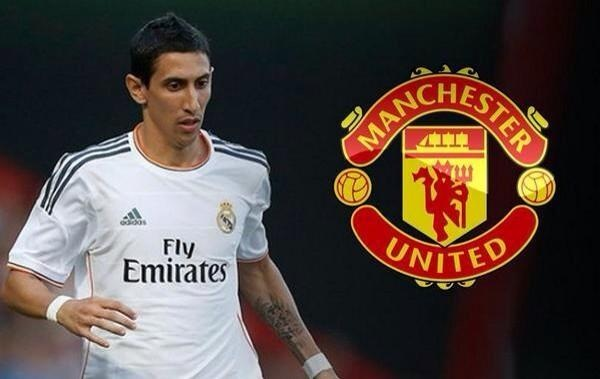 Real Madrid's Angel Di Maria completes his move to Manchester United on