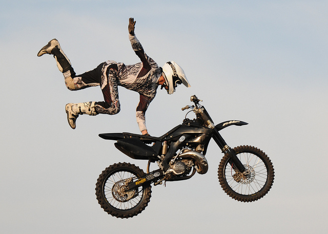 jaw dropping motocross stunts that will make you question the laws