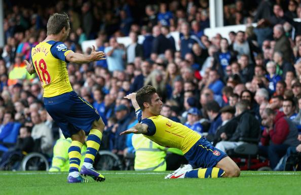 Olivier Giroud goal Everton