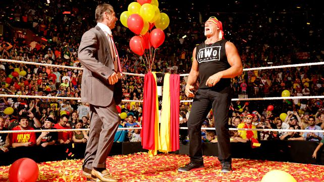 Hogan and Vince sharing the ring