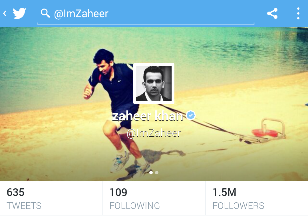 most followed cricketers on twitter