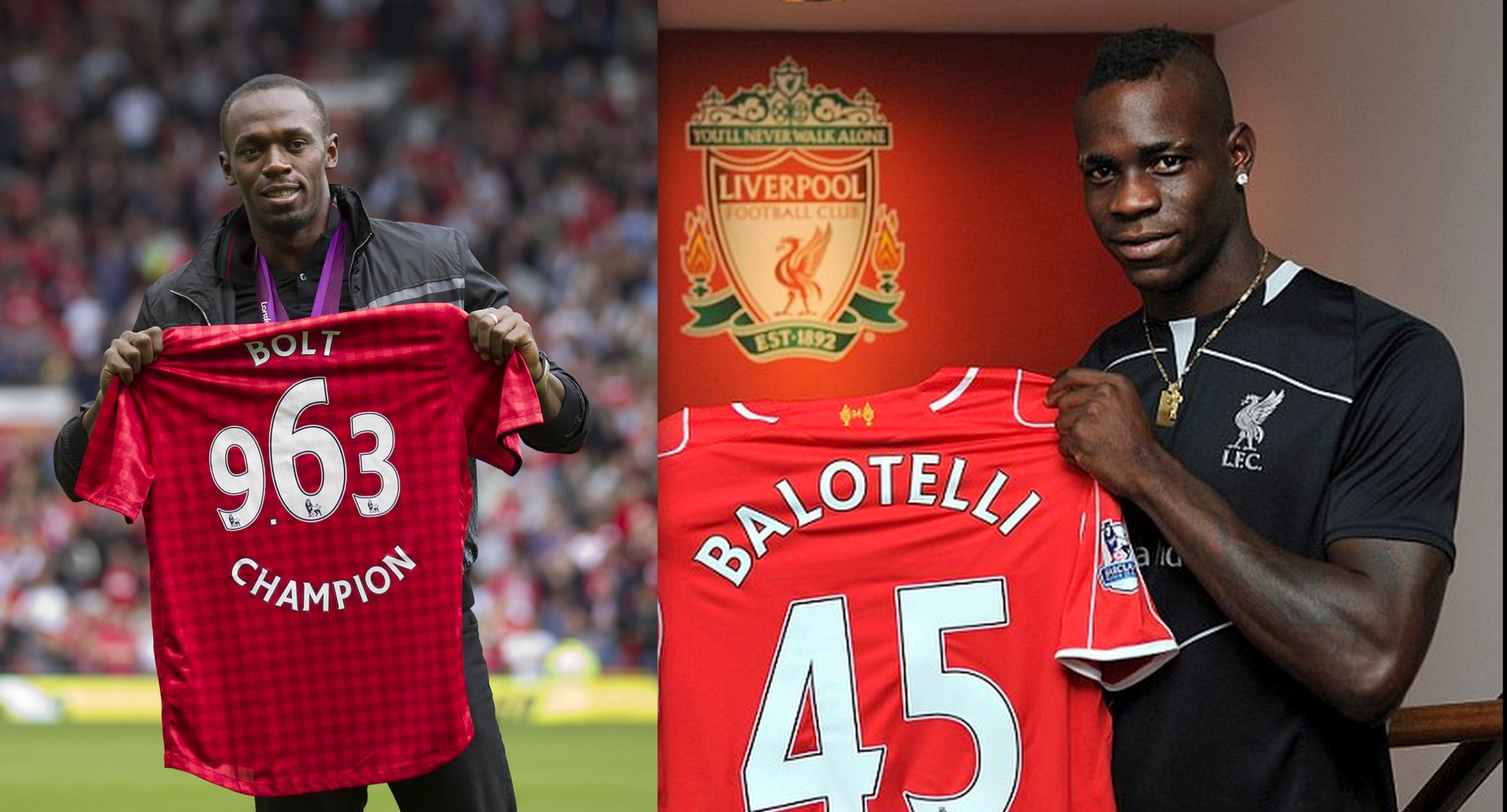 100% authentic 0db9c 0b2fa Manchester United fan Usain Bolt urged Mario Balotelli to ...