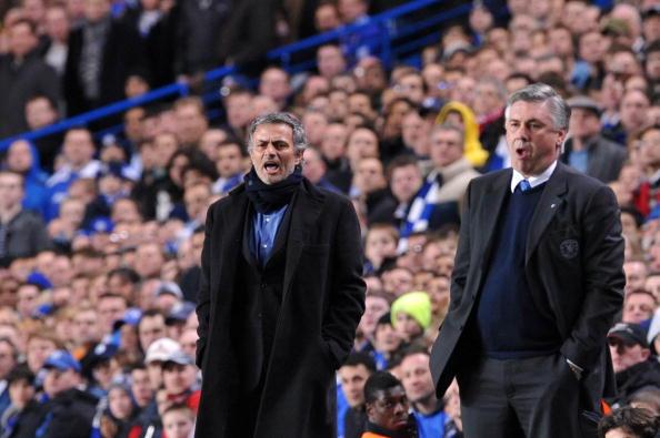 Image result for mourinho and ancelotti