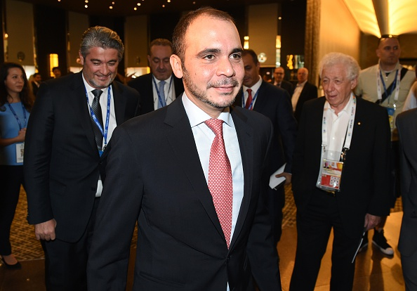 Prince Ali Bin Al Hussein welcomes the candidacy of Luis Figo