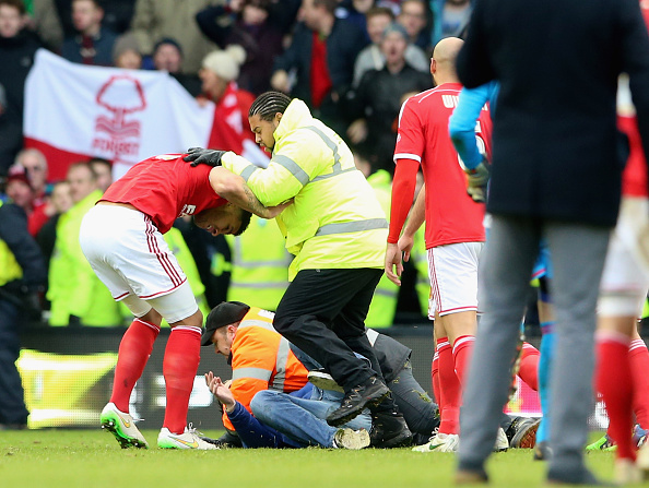 Derby Fan punches