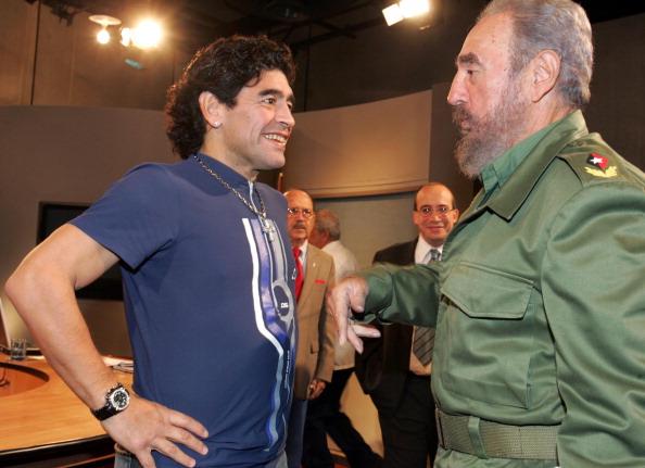 Fidel Castro and Maradona