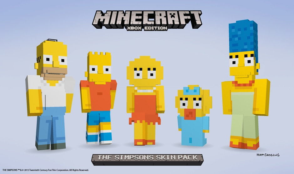 Minecraft gets new Simpsons Content Pack for Xbox