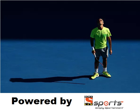 All alone in his grief: Roger Federer cut a forlorn figure during his loss to Andreas Seppi in the 3rd round of the 2015 Australian Open