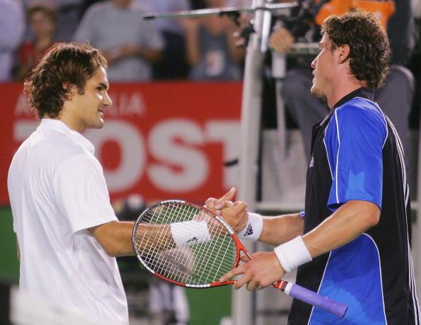 Roger Federer and Marat Safin