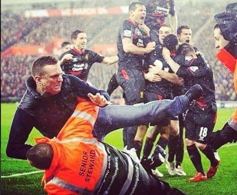 liverpool fan steward rock bottom southampton