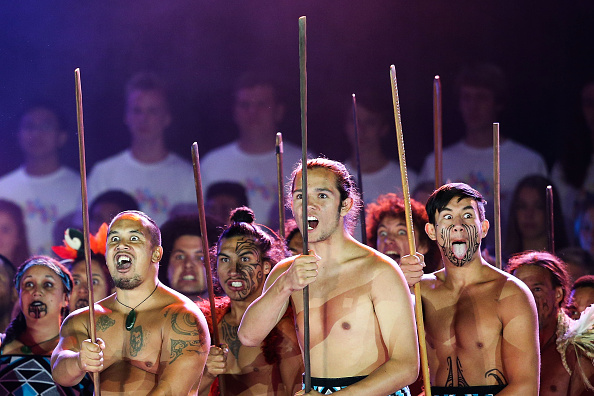 Maori performers entertain during the Opening Ceremony