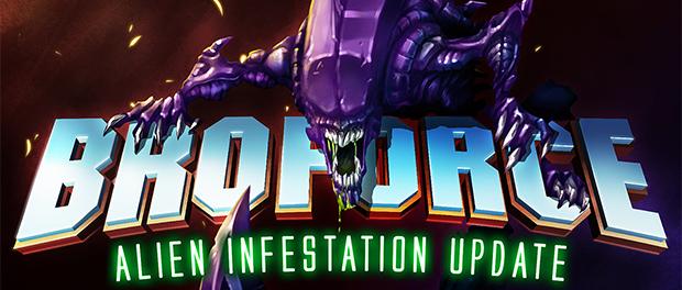 Alien Infestation Update for Broforce released