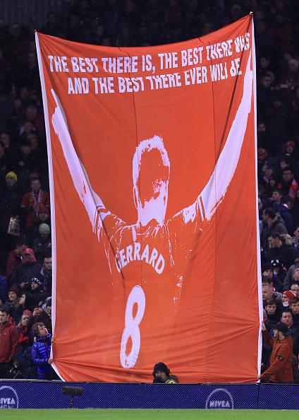 Steven Gerrard banner Kop