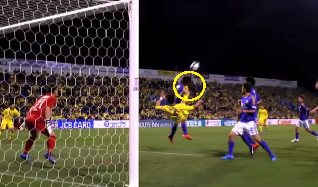 bicycle kick face japan j league