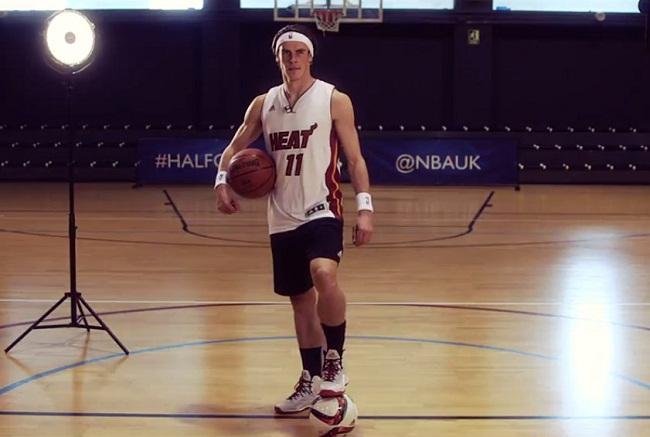 Gareth Bale NBA UK Halfcourt challenge