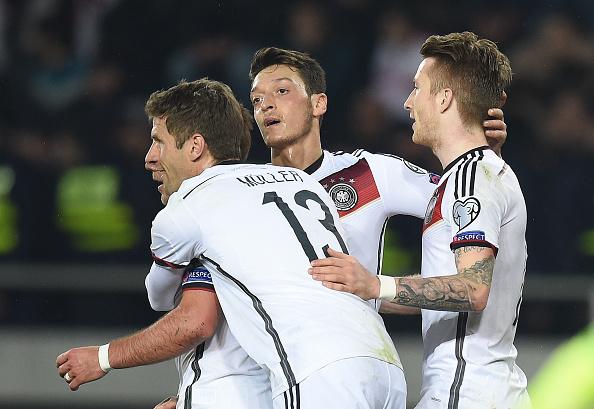 Germany 2-0 Georgia goals highlights reus muller
