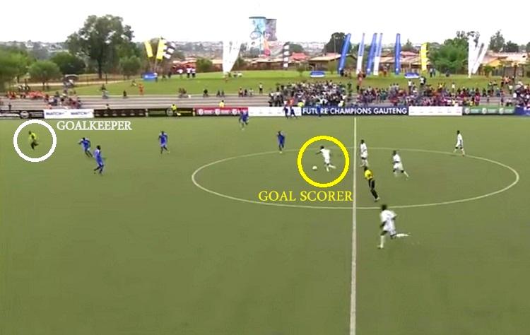 goal score while team celebrates
