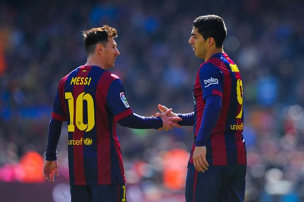 Lionel Messi hat-trick Luis suarez brace goals Barcelona Rayo Vallecano