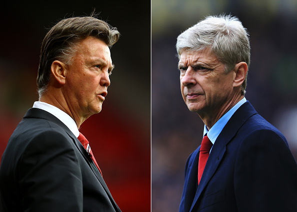 Louis van Gaal Arsene Wenger Manchester United Arsenal FA Cup quarter-final 2015