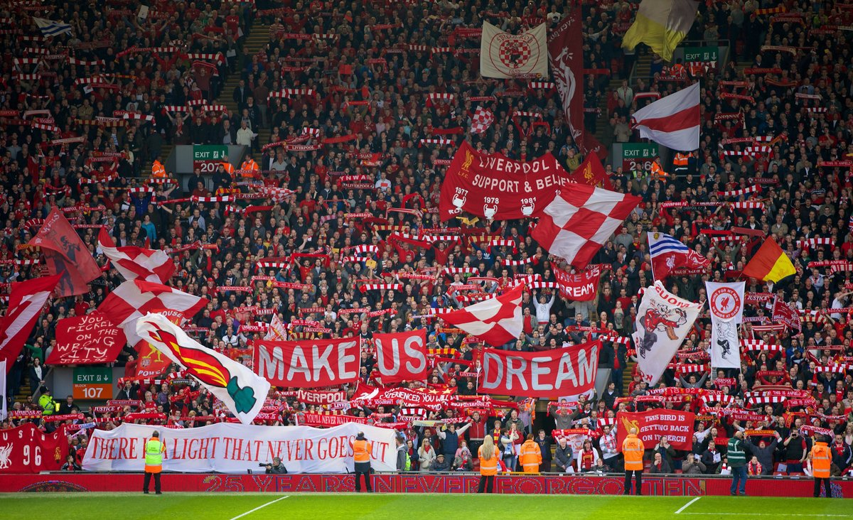 Make us dream Liverpool Kop