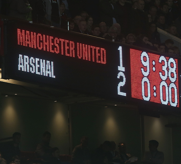 man utd 1-2 arsenal