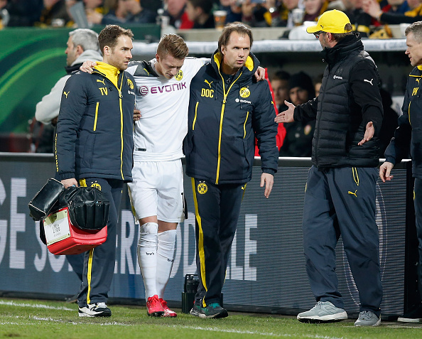 Marco Reus ankle injury Dortmund Klopp