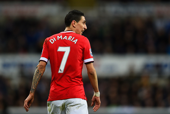 Angel Di Maria was suspended for Manchester United's last match against Tottenham