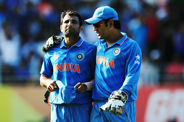 MS Dhoni Mohammed Shami