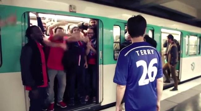 PSG fans troll Chelsea racist metro