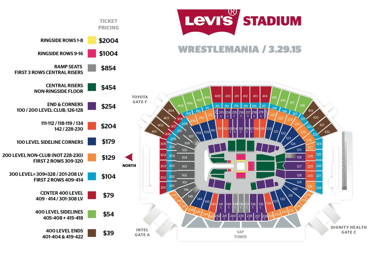 Levis Stadium Capacity >> Page 2 - WrestleMania 31- Date, Place,Tickets and What to Watch