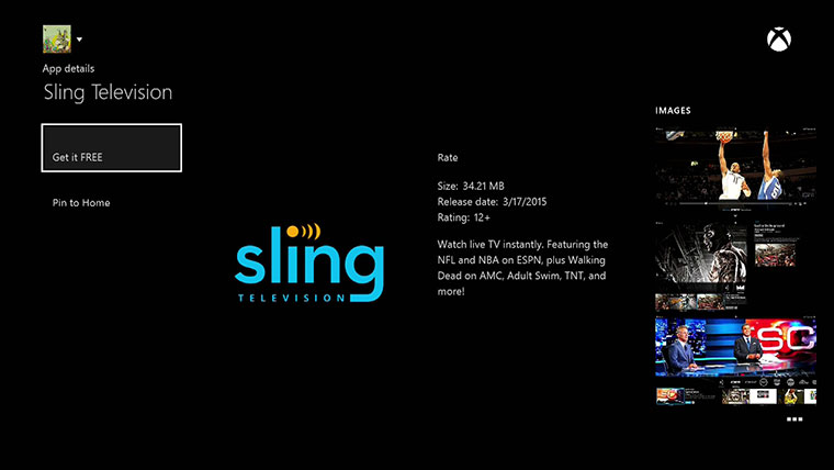 xbox one exclusive sling tv app now available. Black Bedroom Furniture Sets. Home Design Ideas