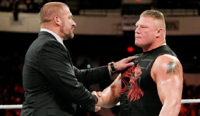 September 20th, 2018 REVOLT Triple-h-welcomes-brock-lesnar-665x385-1426226255