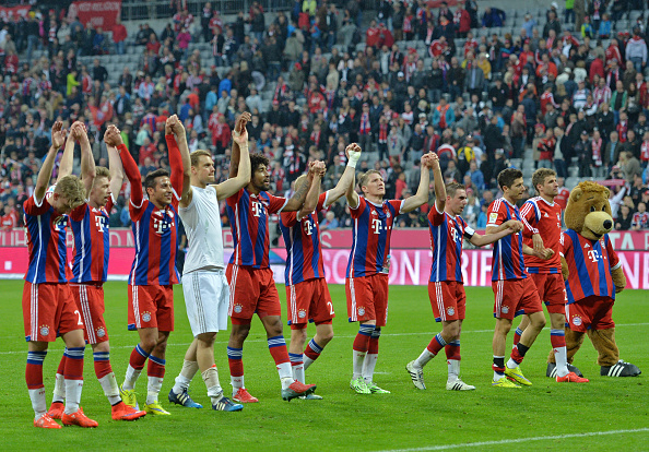 Bayern Munich lift their 25th Bundesliga title