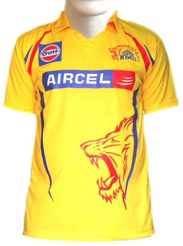 Chennai Super Kings 2015 IPL jerseys and t-shirts now