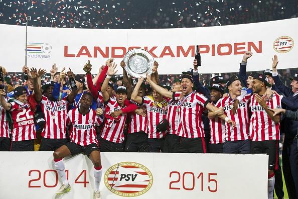 PSV Eindhoven Eredivisie 2014-15 champions
