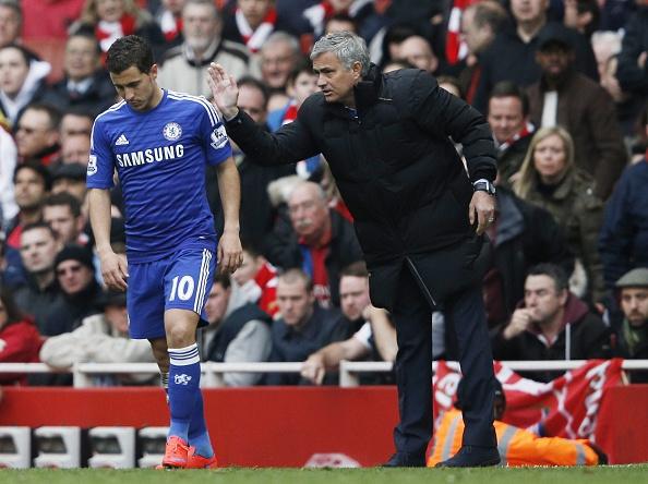 Eden Hazard Jose Mourinho