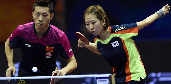 Xu Xin and Yang Hae-un