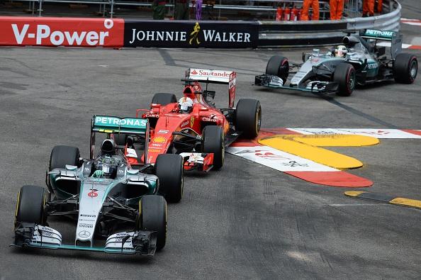 Rosberg Vettel and Hamilton