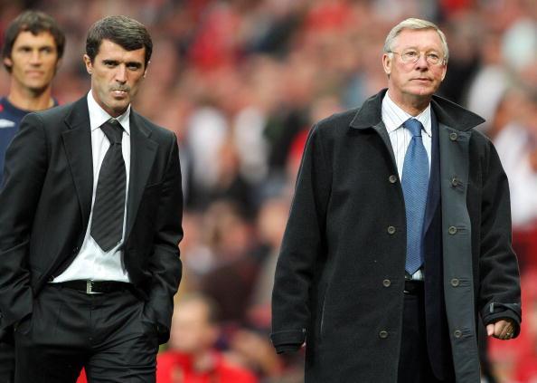 Roy Keand and Alex Ferguson