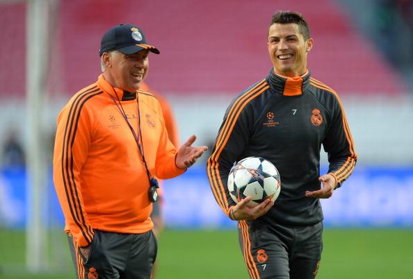 Image result for Carlo Ancelotti with ronaldo