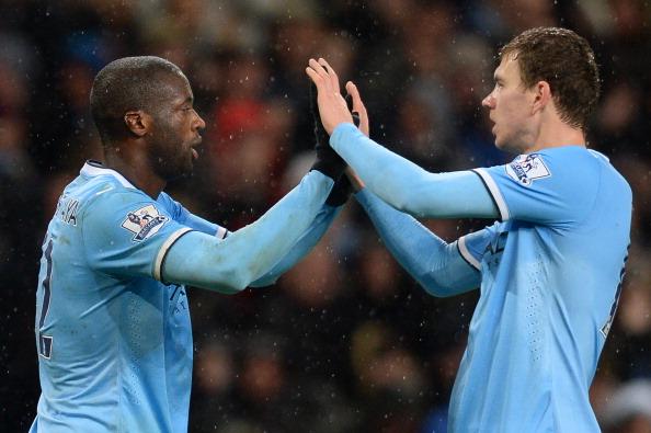 Chelsea Manchester City Edin Dzeko Yaya Toure