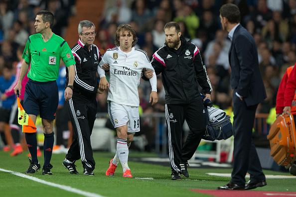 Luka Modric injury Real Madrid