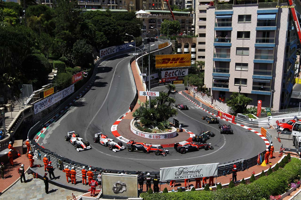 View of Monaco Grand Prix