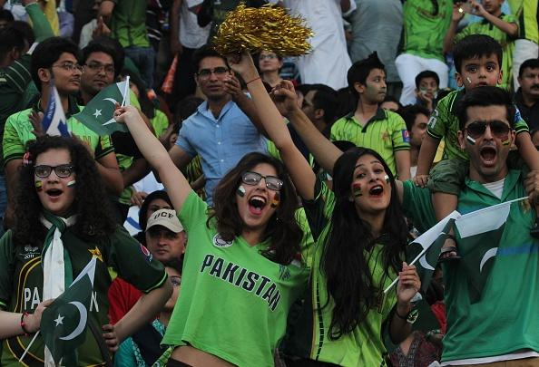 The fans were ecstatic at the return of cricket in their home country