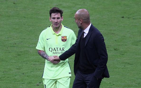 Pep Guardiola Lionel Messi