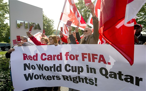 Qatar World Cup human rights protest