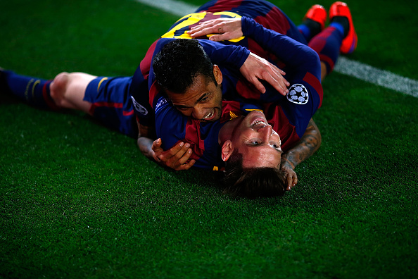 Lionel Messi Dani Alves