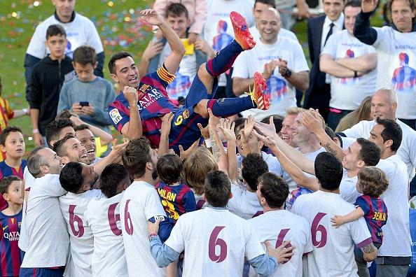 Xavi Barcelona farewell