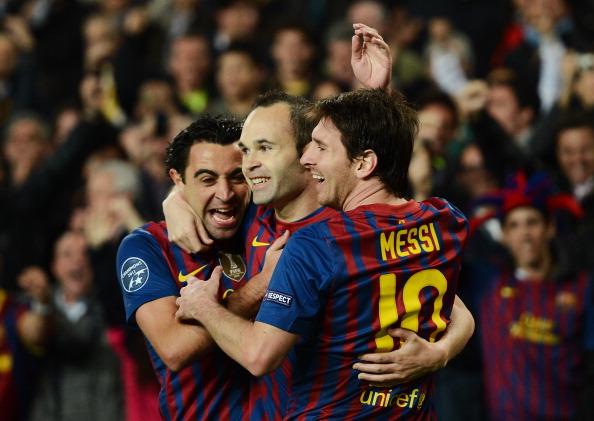 Xavi Iniesta Messi
