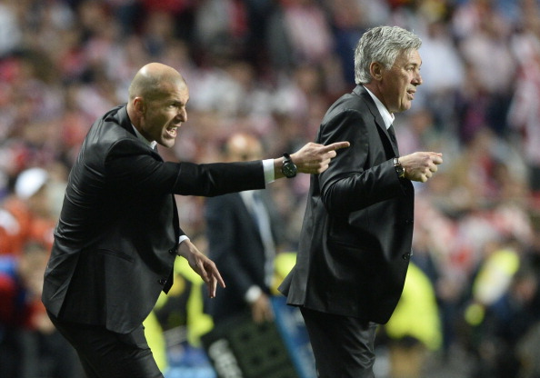 Zidane replace Ancelotti manager Real Madrid